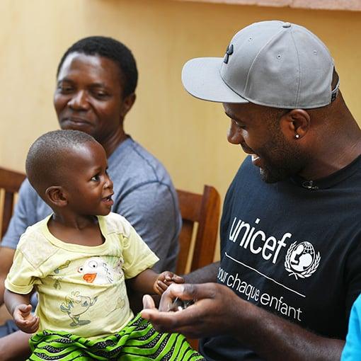 Teddy Riner est Ambassadeur d'UNICEF France.